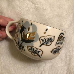 ANTHROPOLOGIE Handpainted Tea Cup/Coffee Mug